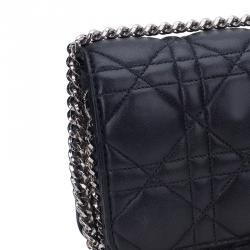 Dior Black Cannage Quilted Calfskin Miss Dior Promenade Pouch Clutch Bag