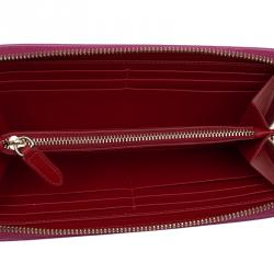 محفظة كونتينيتال كريستيان لوبوتان جلد وردي مرصعة