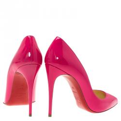 Christian Louboutin Pink Patent So Kate Pumps Size 38