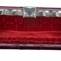 حقيبة سهرة كريستيان لوبوتان قطيفة بنفسجية
