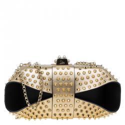 حقيبة كريستيان ديور غراندوتو شائكة جلد ذهبية