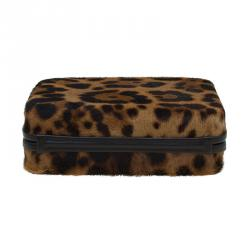 Christian Louboutin Brown Calf Hair Dancing Queen Clutch