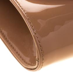 Christian Louboutin Beige Patent Leather Pigalle Clutch