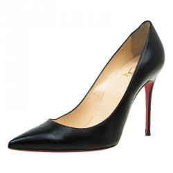 Christian Louboutin Black Leather Decollete Pumps Size 39