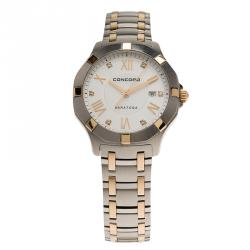 Concord White Stainless Steel Saratoga Women's Wristwatch 32MM