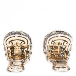 De Grisogono Diamonds and Blue Sapphire White Gold Earrings