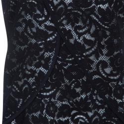 Derek Lam Black Lace Top L