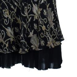 Diane Von Furstenberg Tamary Chiffon Printed Dress S