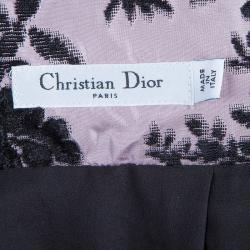 Dior Black and Purple Velvet Skirt M