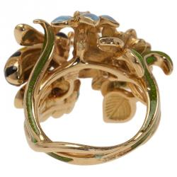 Dior Milly La Foret Diorette Yellow Gold Small Ring Size 49