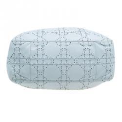 Dior White Cannage Leather Epaule Hobo