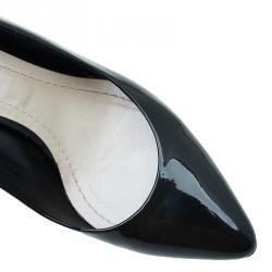 Dior Black Patent Kitten Heel Cherie Pumps Size 39.5