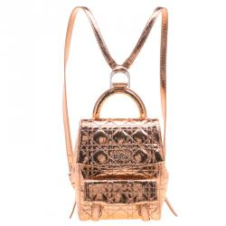 c60329437a0 Dior Metallic Bronze Ceramic Effect Leather Stardust Backpack