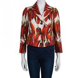 Dolce and Gabbana Red Chilli Print Blazer M