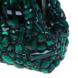 Dolce and Gabbana Green Satin Sarah Crystal Purse
