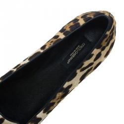 Dolce and Gabbana Pony Hair Smoking Slippers Size 39