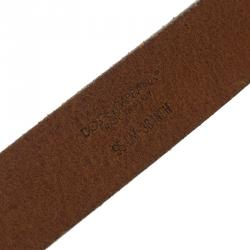 Dolce and Gabbana Brown Leather Buckle Belt 95 CM