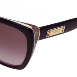 Dolce and Gabbana Violet DG4111 Cat Eye Sunglasses