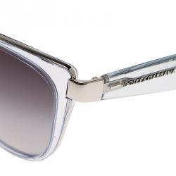 Dolce and Gabbana Light Blue Transparent DG2107 Cat Eye Sunglasses