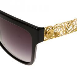 Dolce and Gabbana Black DG4212 Filigree Cat Eye Sunglasses