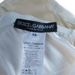Dolce & Gabbana Rose-print Silk Mikado Dress S