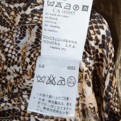 Dolce and Gabbana Beige Linen Embellished Coat M