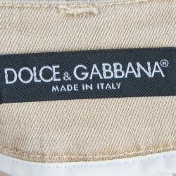 Dolce And Gabbana Beige Flared Jeans M