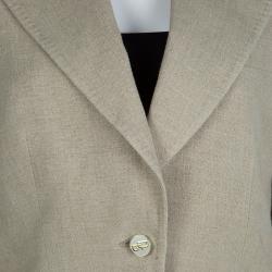 Dolce And Gabbana Beige Linen Blazer M