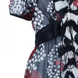 Dolce and Gabbana Multicolor Polka Dot Silk Top M