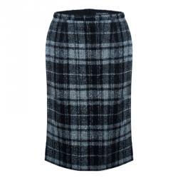 Dolce and Gabbana Grey Wool Plaid Skirt S