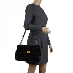 65ebd0b4dfc Dolce and Gabbana Black Fabric/Sequin and Python Trim Mix Media Miss Kate  Shoulder Bag
