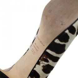 Dolce and Gabbana Leopard Print Pointed Pumps Size 37.5