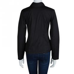 Dries Van Noten Black Cotton Long Sleeve Buttondown Shirt M