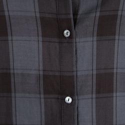 Elizabeth and James Grey Cohen Plaid Button Down Shirt S