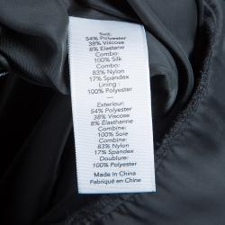 Elizabeth and James Black Silk Overlay Sleeveless Dress S