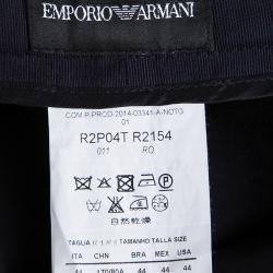 Emporio Armani Navy Blue Colorblock Striped Trousers M