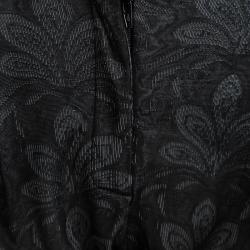 Emporio Armani Grey Floral Jersey Jacquard Trousers M