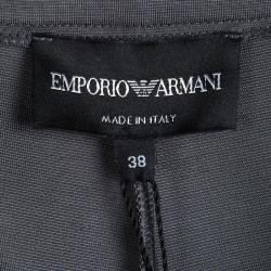 Emporio Armani Grey High Waist Regular Fit Trousers S