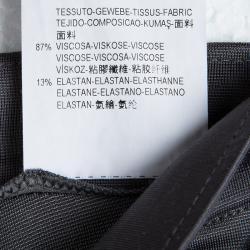 Emporio Armani Grey High Waist Regular Fit Trousers S