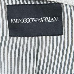 Emporio Armani Cream Fitted Blazer L