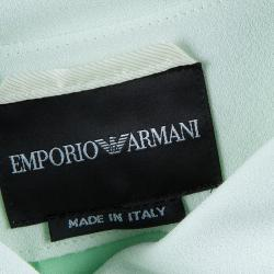 Emporio Armani Pale Mint Green Asymmetric Jacket L