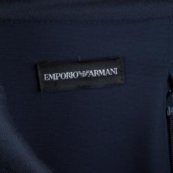 Emporio Armani Navy Blue Knit Long Sleeve Dress S