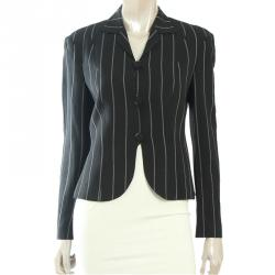 Emporio Armani Monochrome Striped Tailored Jacket S