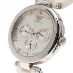 Emporio Armani Silver Stainless Steel AR0736 Women's Wristwatch 39MM