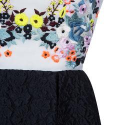 Erdem Multicolor Floral Embroidered Dress M