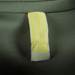 Essa Walla Olive Green Contrast Trim Neoprene Cardigan M/L