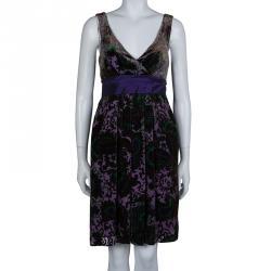Etro Purple Burnout Detail Sleeveless Dress S