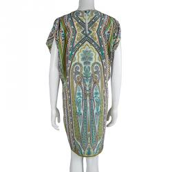 Etro Multicolor Paisely Printed Silk Shift Dress M