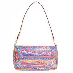 Etro Multicolor Paisley Printed Leather Shoulder Bag