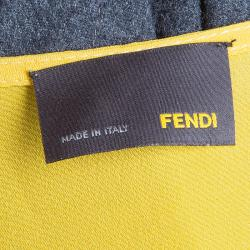 Fendi Yellow/Grey Colorblock Dress S